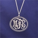 Engraved Vine Monogram Necklace