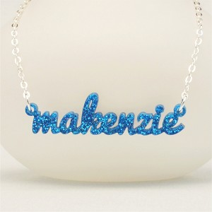 Custom Acrylic Laser Cut Name Necklace