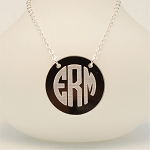 Two-Layer Acrylic Monogram Necklace