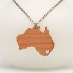 Australia Wooden Necklace