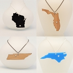 Customizable State Necklace