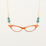 Cat's Eye Glasses Necklace