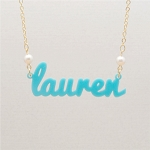 Large Birthstone Name Necklace