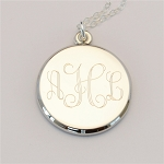 Medium Engraved Charm Necklace