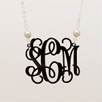 Pearl Vine Monogram Necklace