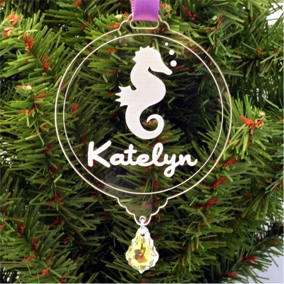 homechristmas ornaments seahorse ornament - Seahorse Christmas Ornament