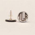 Geometric Monogram Post Earrings