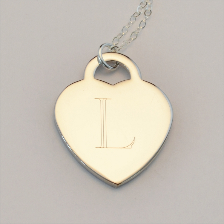 Custom Engraved Tiffany Heart Charm Necklace Ottava Designs