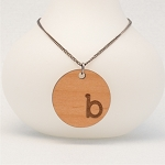 Typewriter Initial Necklace