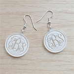 Engraved Vine Monogram Earrings