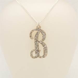 Mini Vine Script Initial Necklace