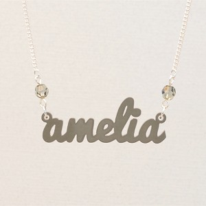 Medium Birthstone Name Necklace