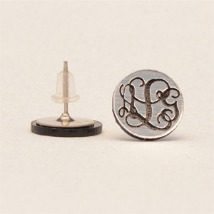 Vine Monogram Post Earrings